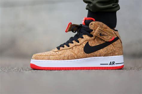 nike air force  mid nike blazer mid cork sneakers