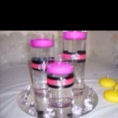 pink and black centerpieces for weddings pink and black wedding centerpiece wedding