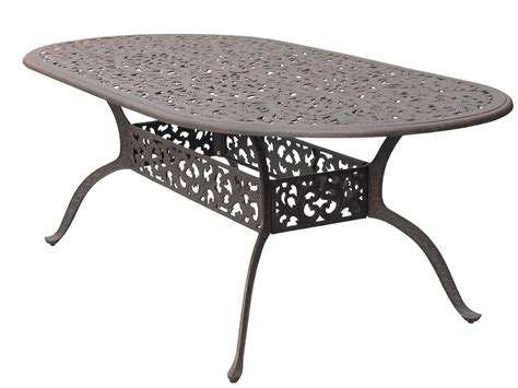 Oval Cast Aluminum Patio Table Darlee Outdoor Living Series 80 Cast Aluminum Antique Bronze 84 X 42 Oval Dining Table Dl80 L