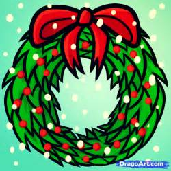 gallery for gt christmas wreath drawing