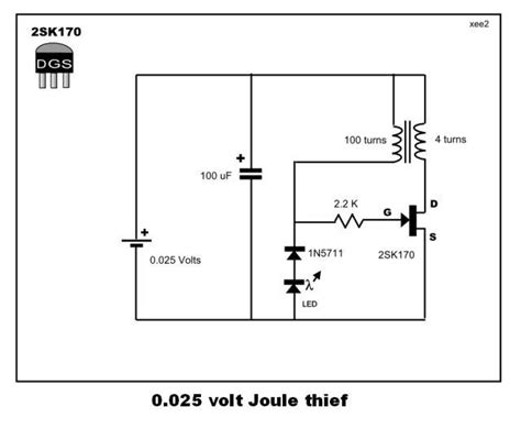 pnp transistor joule thief joule theif try out