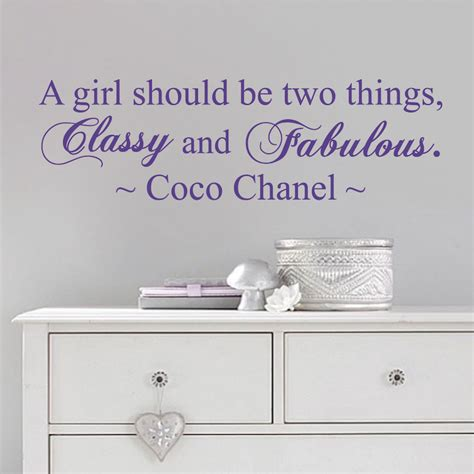 coco chanel wall stickers coco chanel wall quote decal from trendy wall designs
