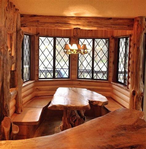 dining room nook cedar log breakfast nook after rustic dining room