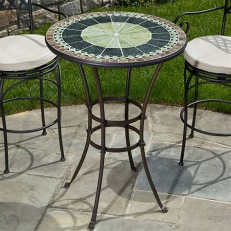 Outside Bistro Table Alfresco Home Ponte 30 In Mosaic Bistro Table Contemporary Outdoor Dining Tables By