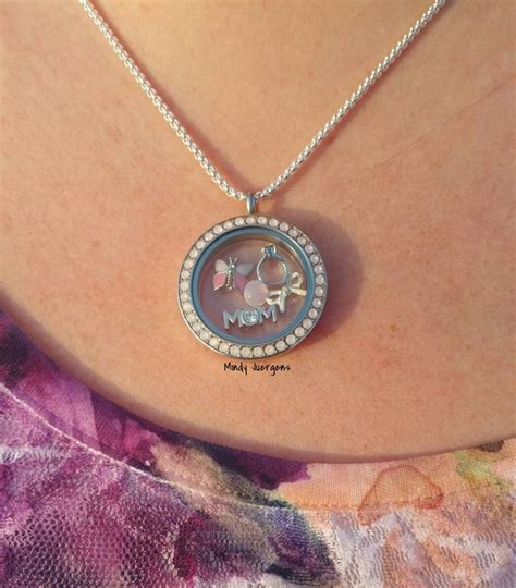 Origami Owl Costume Jewelry - water opal locket from origami owl https
