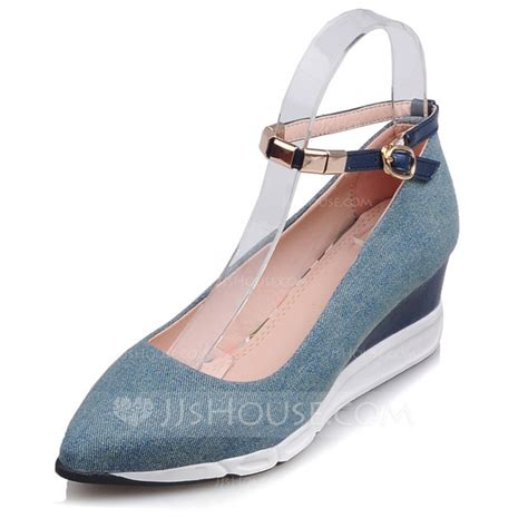 s canvas wedge heel closed toe shoes 116092170
