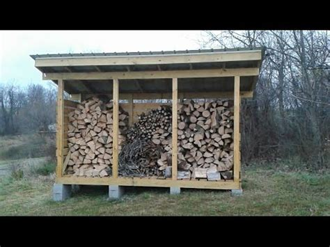 build  firewood storage shed youtube