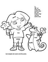 coloring pages spanish explorers dora the explorer stars coloring pages child coloring