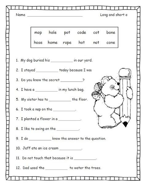 first grade phonics worksheets short vowels free
