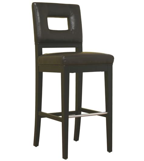 Bar Stools Leather Wood by Wood And Leather Barstool In Wood Bar Stools