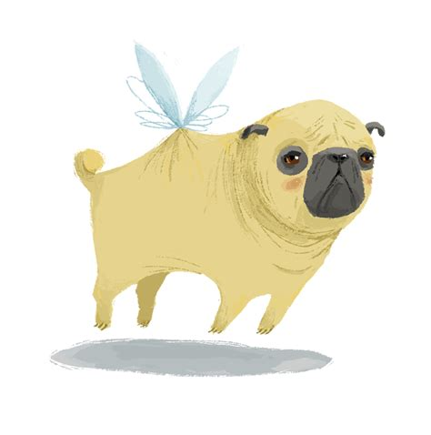 when pugs fly ella bailey illustration yeah right