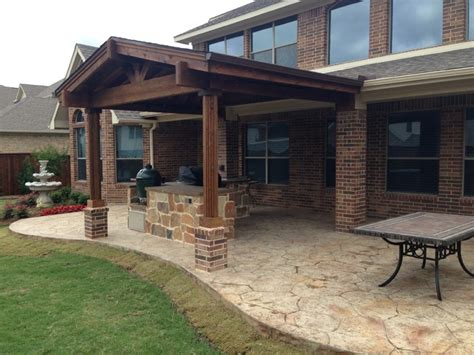 Rustic Patio Covers by Patio Cover Outdoor Kitchen