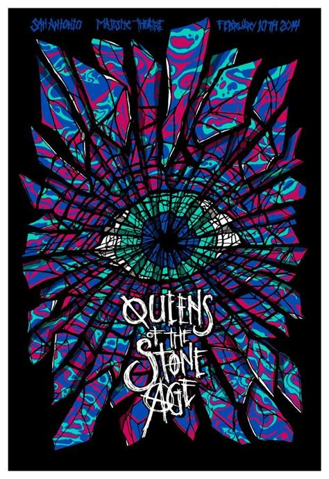 Plakat Queens Of The Stone Age by Brad Klausen Queens Of The Stone Age Miami San Antonio