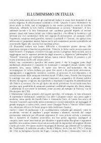 l illuminismo in italia riassunto commercio con l oriente docsity