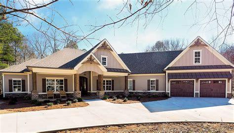 craftsman house plan  angled garage craftsman house
