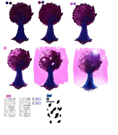 paint tool sai tree tutorial easy tutorial pink tree by ryky on deviantart