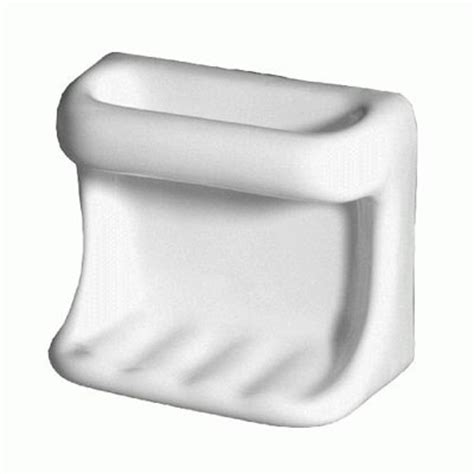 Daltile Bathroom Accessories Daltile Universal White Soap Dish With Washcloth Holder Ceramic Tile