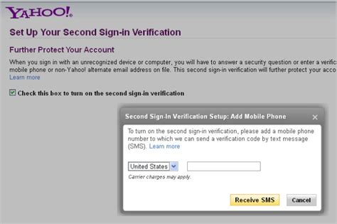 yahoo email verification code yahoo improves account security with second sign in