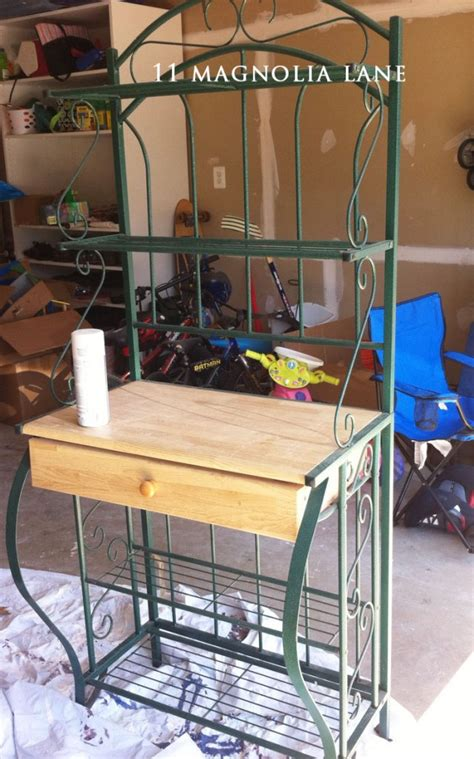 Patio Bakers Rack by Hometalk Upcycled Baker S Rack To Patio Esential