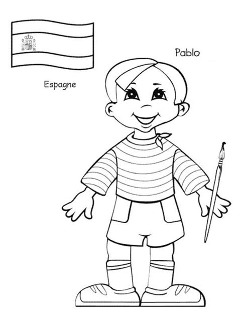 coloring book vs of pablo pablo kid from around the world coloring page