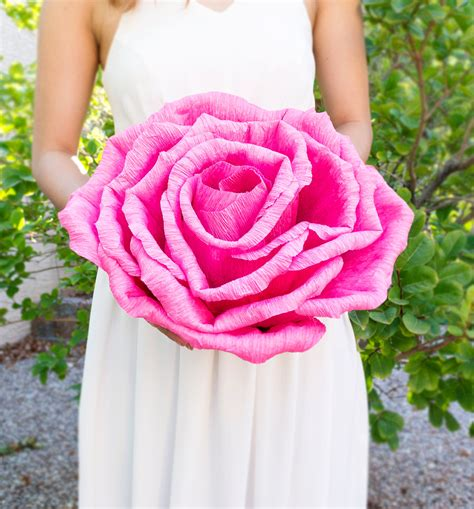 handmade crepe paper flower without stem wedding
