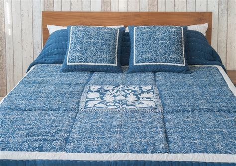 Blue Quilts And Bedspreads Blue Fleur Embroidered Bedspread Bed Company