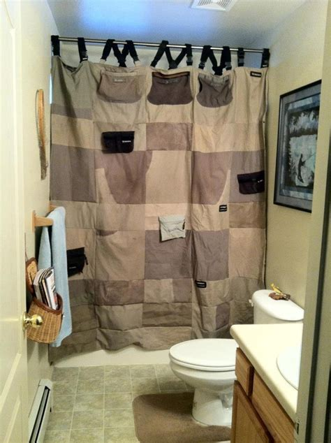 Mens Shower Curtains Can I Do This One Day Recycled Wader Shower Curtains For The S Room Fly Er Than