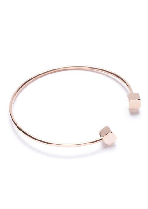 Cube Bracelet sugar cube cuff bracelet in gold happiness boutique