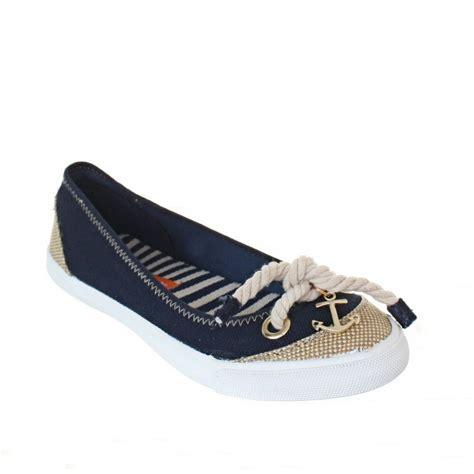 rocket flat shoes womens rocket tulip navy canvas nautical flat ballet