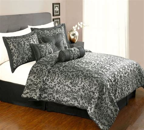 Black Floral Comforter Set King Colormate 7 Jacquard Black Floral King Comforter Set Via Pee2bee Click On The Image To
