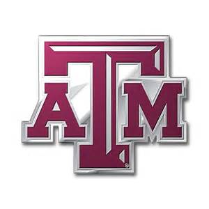aggie colors a m aggies color emblem car or truck decal team