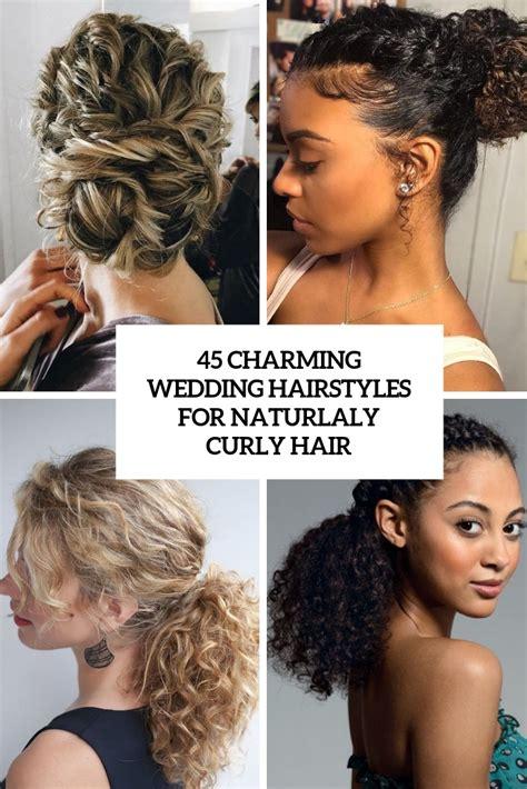 45 charming s wedding hairstyles for naturally curly hair weddingomania