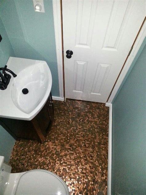 penny floor bathroom penny floor for the home pinterest