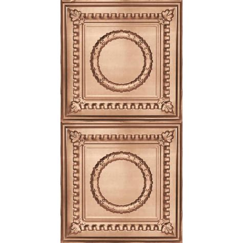 real copper ceiling tiles shop armstrong metallaire copper patterned surface mount