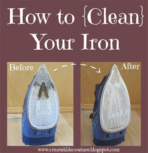 create kids couture how to clean your iron