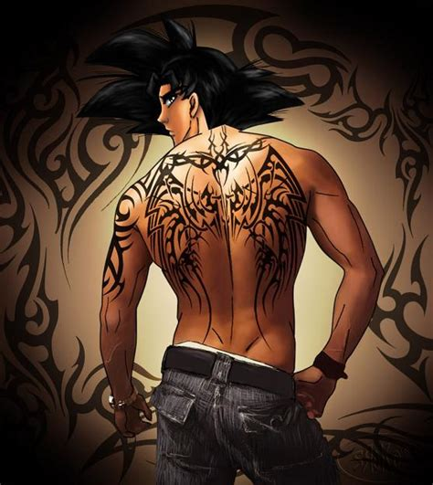 goku tattoos goku session back by srokaml on deviantart
