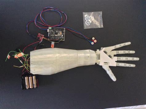 tutorial arduino robotic hand high school student 3d prints voice controlled robotic arm