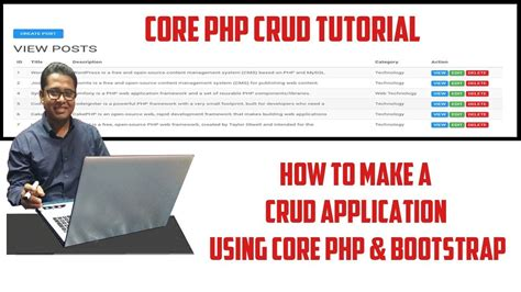 tutorial php application crud application tutorial using core php youtube