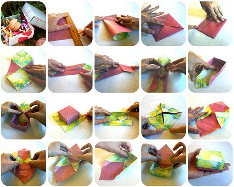 Origami Wrapping Paper Gift Box - diy origami box wrappily eco friendly gift wrap