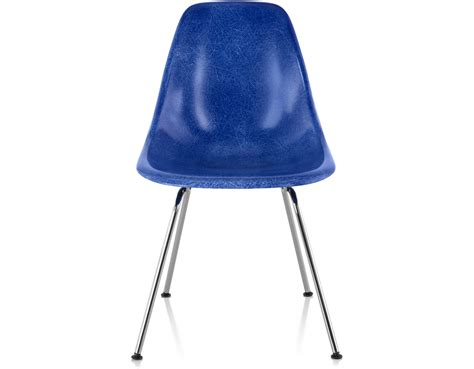 Molded Chair by Eames 174 Molded Fiberglass Side Chair With 4 Leg Base