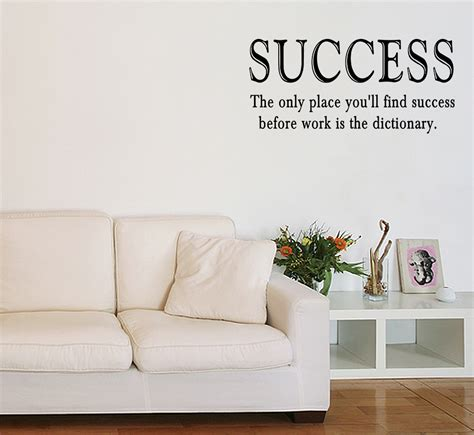 motivational quotes wall stickers success work vinyl wall quote sticker saying decor inspirational decal cling ebay