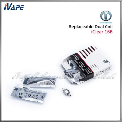Innokin Iclear 16b Replacement Dual Coil 100 original innokin dual coil for iclear 16b 16d clearomizer iclear16b 16d replacement coil