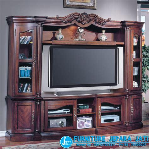 Bufet Tv Minimalis Kombinasi 03 bufet tv minimalis klasik jepara jati
