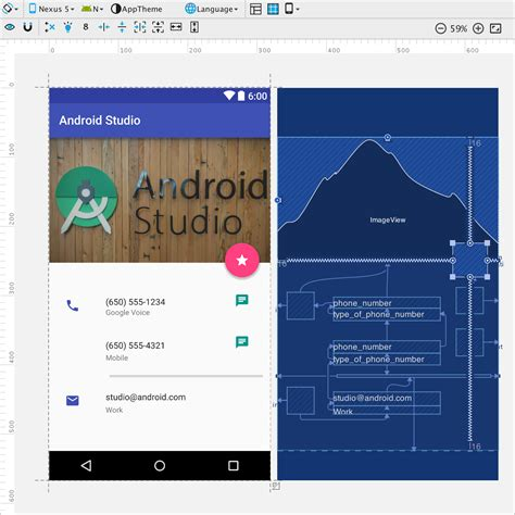 layout android z index new layout editor with constraint layout android studio