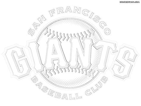san francisco giants logo coloring pages coloring pages