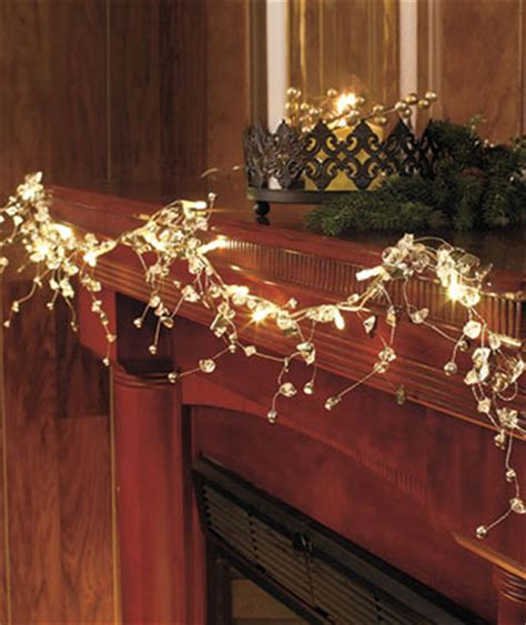 54 quot lighted clear crystal garland over door frame or