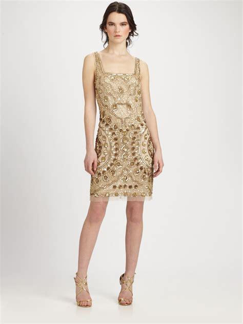 aidan mattox beaded dress aidan mattox beaded dress in lyst