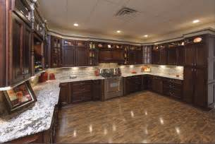 Style with molding york antique white or chocolate kitchen cabinets