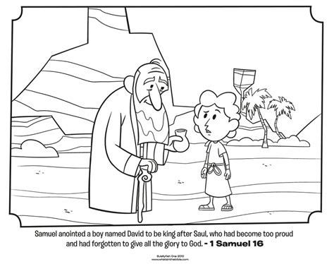 coloring page david becomes king samuel anoints david bible coloring pages what s in