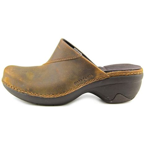 brown clogs for patagonia better clog slide leather brown clogs comfort